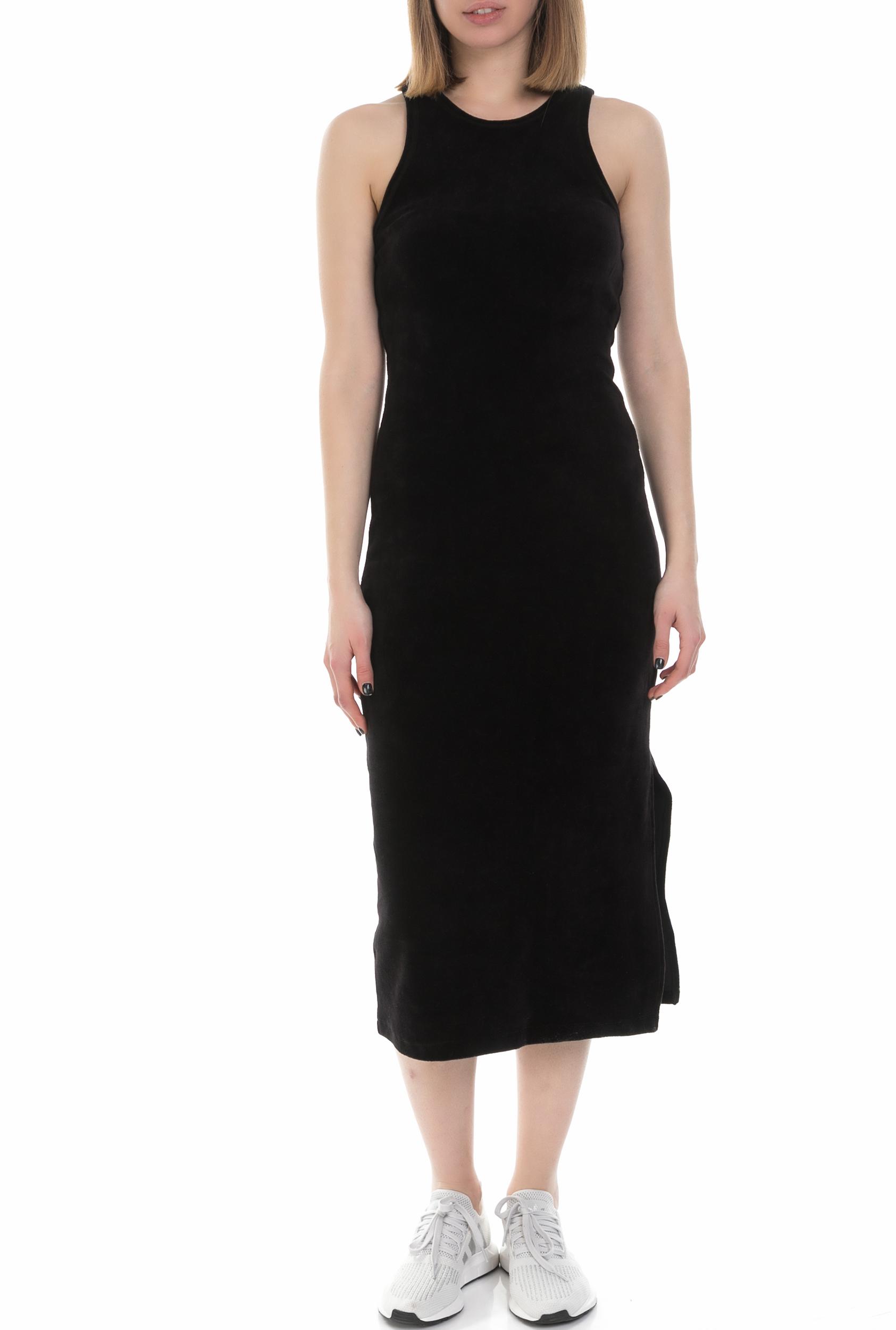 bb214df5a7f8 JUICY COUTURE - Γυναικείο αμάνικο midi φόρεμα Juicy Couture μαύρο