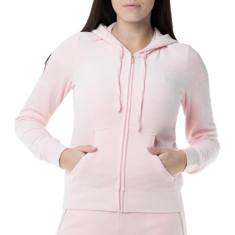 JUICY COUTURE – Γυναικεία βελούδινη ζακέτα Juicy Couture ροζ