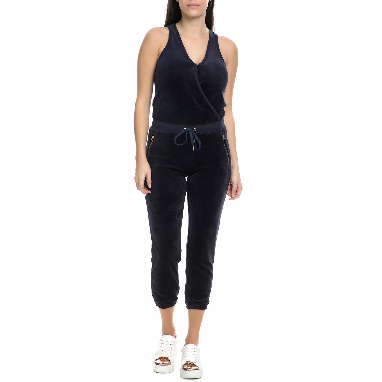 679a324a9cdb JUICY COUTURE – Γυναικεία ολόσωμη φόρμα βελουτέ Juicy Couture σκούρη μπλε