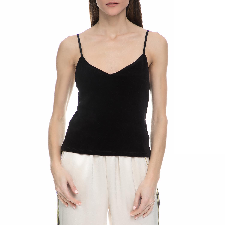 JUICY COUTURE - Γυναικείο τοπ βελουτέ Juicy Couture μαύρο γυναικεία ρούχα μπλούζες τοπ