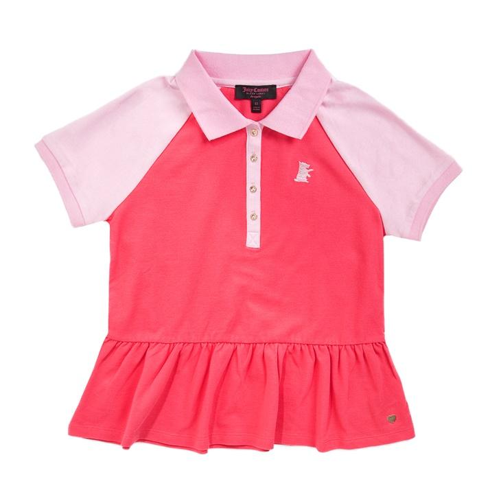 Κοριτσίστικη πόλο μπλούζα JUICY COUTURE ροζ - JUICY COUTURE KIDS ... 068ecd5d8da