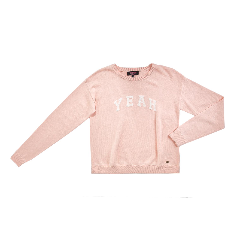 JUICY COUTURE KIDS – Κοριτσίστικη πλεκτή μπλούζα JUICY COUTURE YEAH INTARSIA ροζ