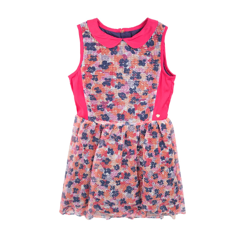 JUICY COUTURE KIDS - Φόρεμα JUICY COUTURE NOVEAU FLORAL SEQUIN PARTY με φλοράλ μ παιδικά girls ρούχα φορέματα κοντομάνικα αμάνικα