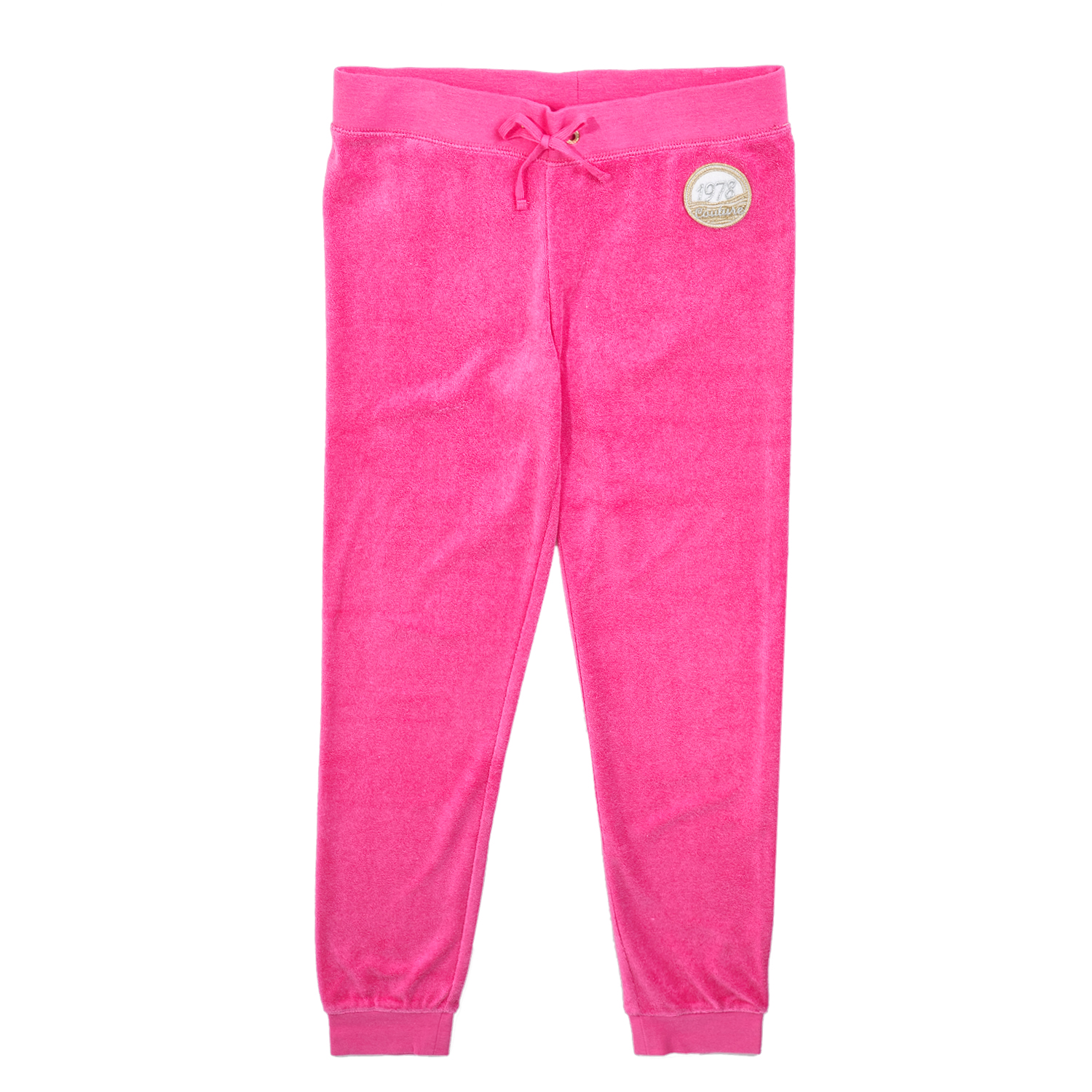 JUICY COUTURE KIDS - Κοριτσίστικο παντελόνι φόρμας JUICY COUTURE MICROTERRY JUIC παιδικά girls ρούχα παντελόνια