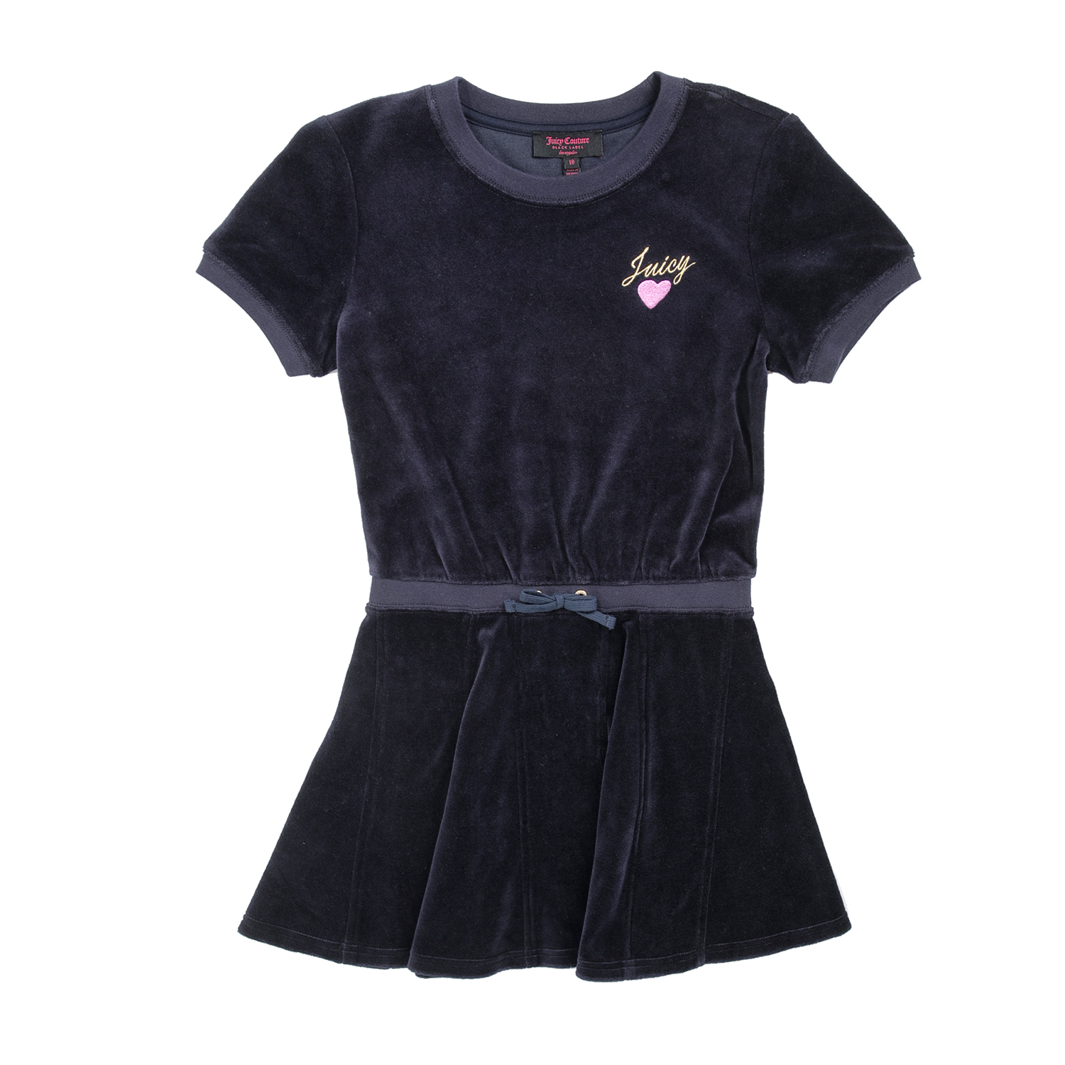 JUICY COUTURE KIDS - Κοριτσίστικο φόρεμα JUICY COUTURE HEART EXPRESSIONS μπλε παιδικά girls ρούχα φορέματα κοντομάνικα αμάνικα