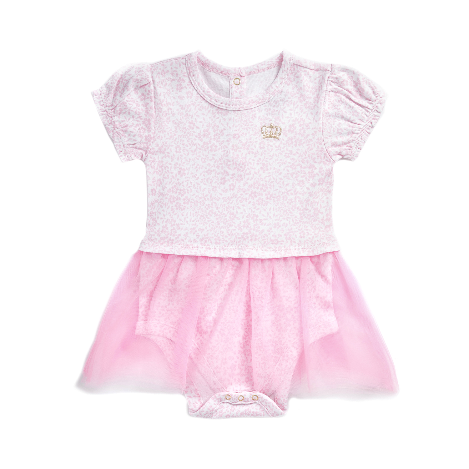 b5bfb72f74a -50% JUICY COUTURE KIDS – Φορμάκι με τουτού JUICY COUTURE DELICATE FLORAL  NOVELTY ροζ με φλοράλ μοτίβο