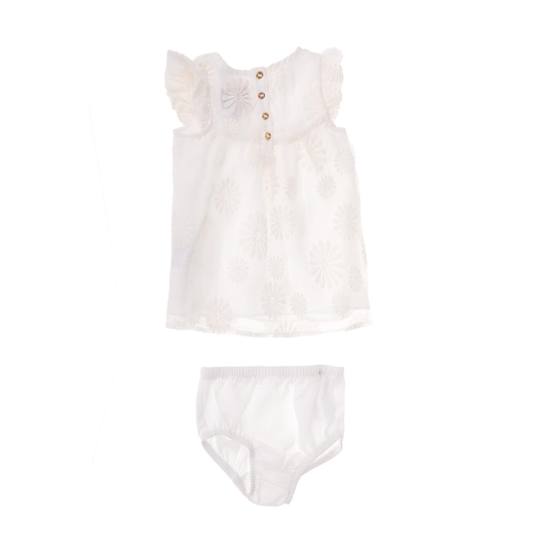 c167924f23b JUICY COUTURE KIDS - Βρεφικό φόρεμα JUICY COUTURE ORGANZA FLORAL εκρού