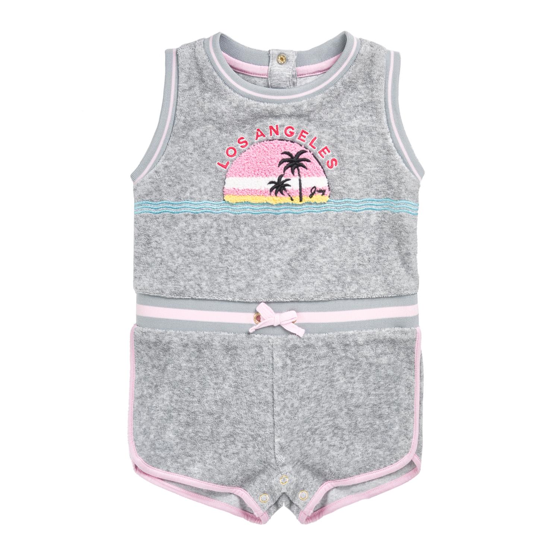 JUICY COUTURE KIDS - Βρεφική ολόσωμη φόρμα JUICY COUTURE MICROTERRY LA SUNSET γκ παιδικά baby ρούχα ολόσωμες φόρμες