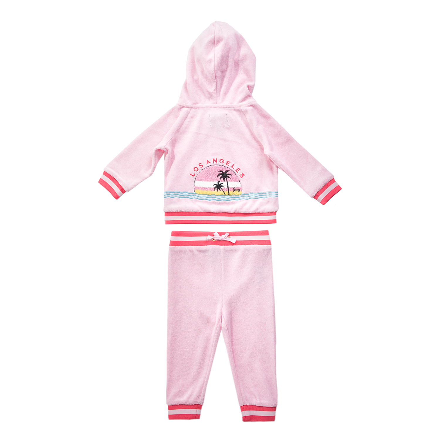JUICY COUTURE KIDS - Σετ φόρμας ζακέτα-παντελόνι JUICY COUTURE ροζ ... 3e2e6abc460
