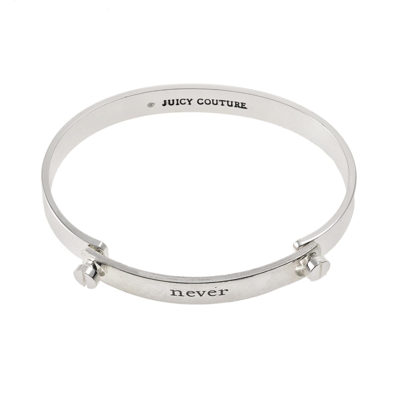 JUICY COUTURE - Βραχιόλι Juicy Couture Word Plate ασημί γυναικεία αξεσουάρ κοσμήματα βραχιόλια