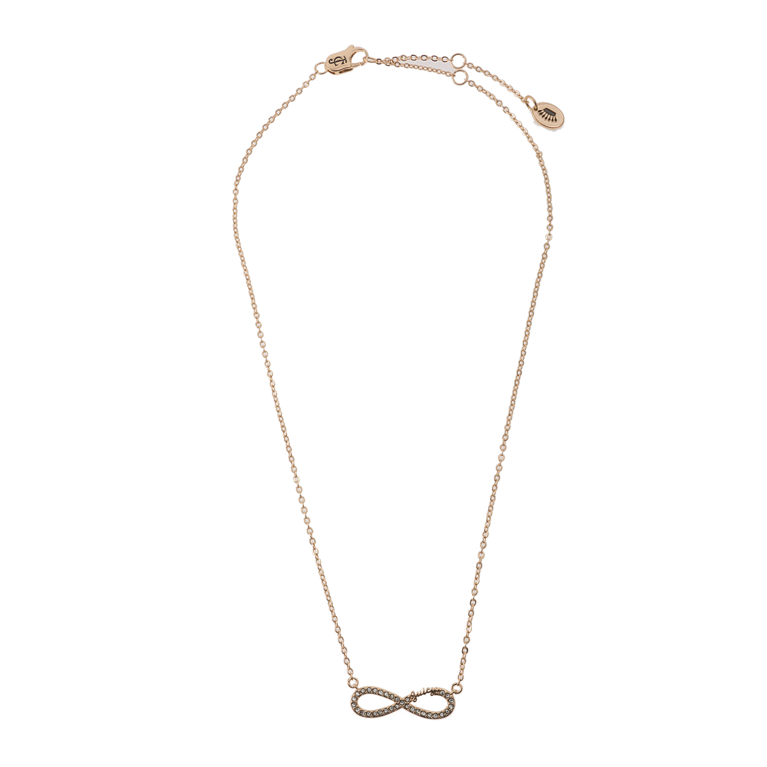JUICY COUTURE - Κολιέ Juicy Couture Pave Infinity Luxe Wishes χρυσό γυναικεία αξεσουάρ κοσμήματα κολιέ
