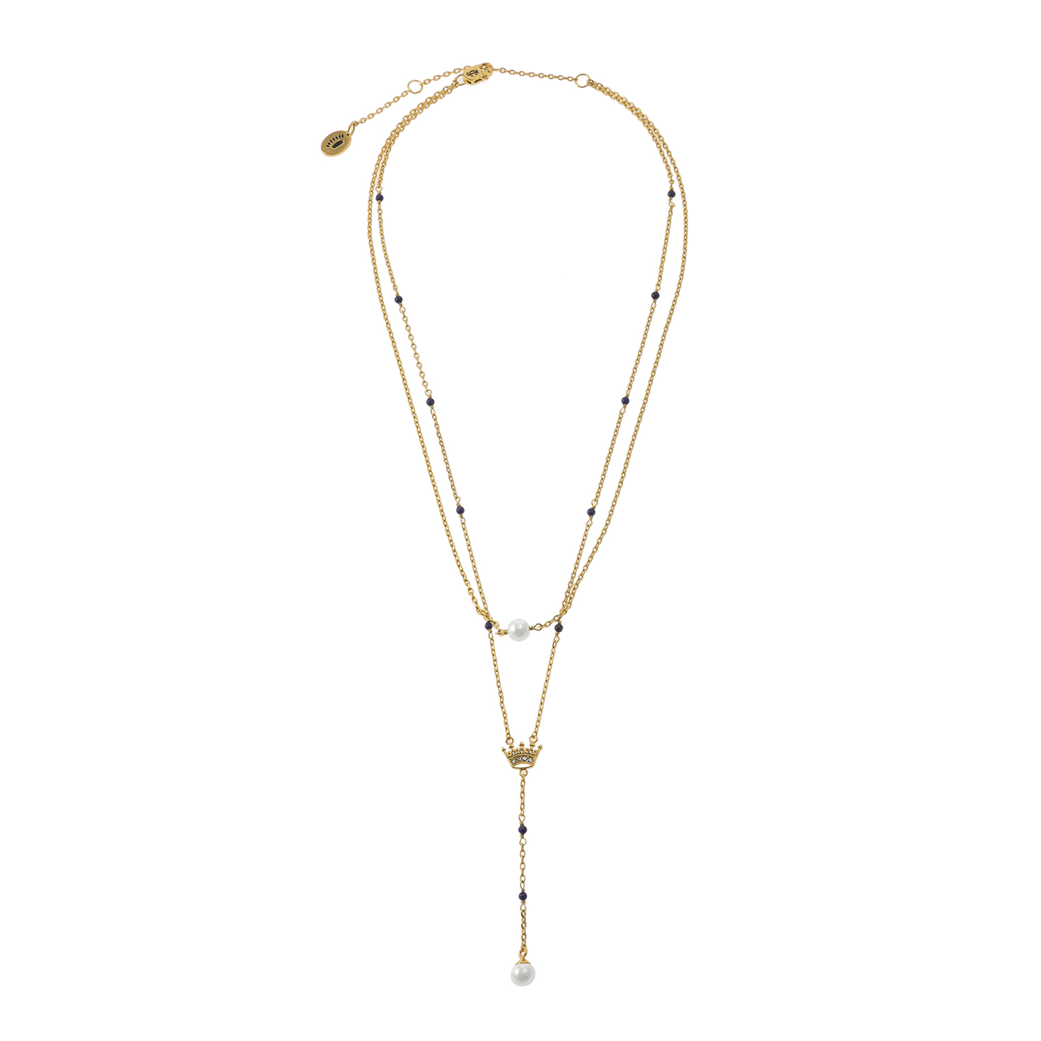JUICY COUTURE - Κολιέ Juicy Couture Beaded Crown Luxe Wishes χρυσό γυναικεία αξεσουάρ κοσμήματα κολιέ
