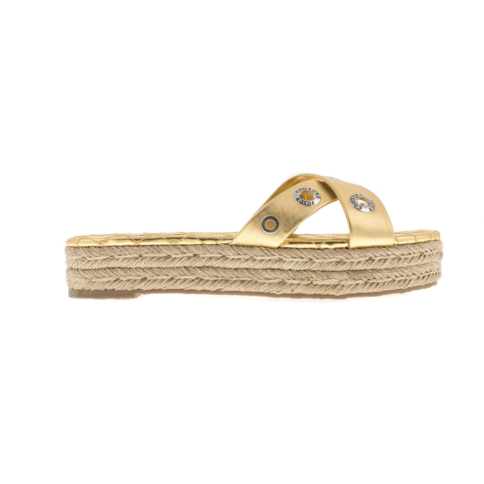 9c99d3395ea5 JUICY COUTURE – Γυναικεία σανδάλια JUICY COUTURE PARISI χρυσά