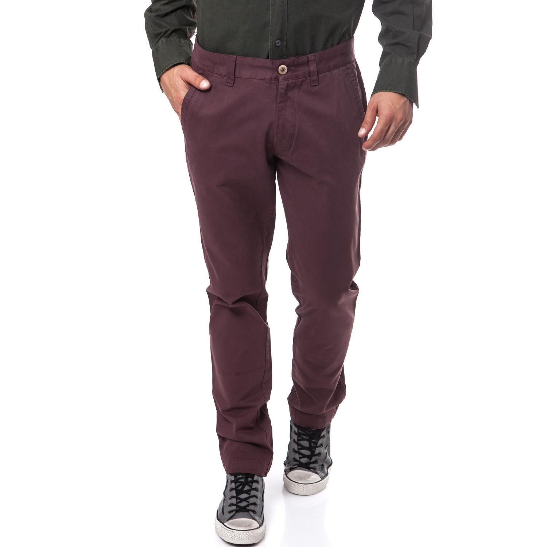 DORS - Ανδρικό παντελόνι Dors μωβ ανδρικά ρούχα παντελόνια chinos
