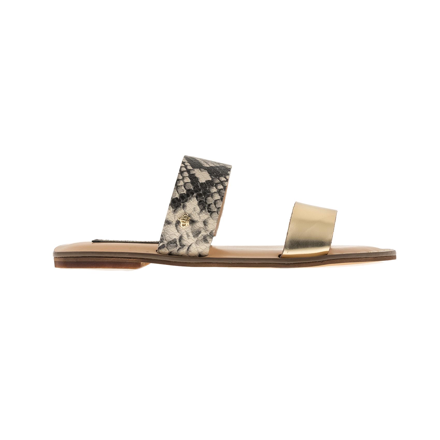 JUICY COUTURE – Γυναικεία σανδάλια JUICY COUTURE PAMI χρυσά-φίδι
