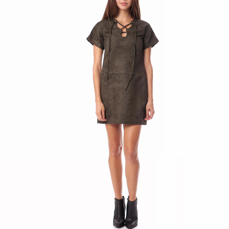 MYMOO - Γυναικείο φόρεμα MyMoo χακί γυναικεία ρούχα φορέματα μίνι