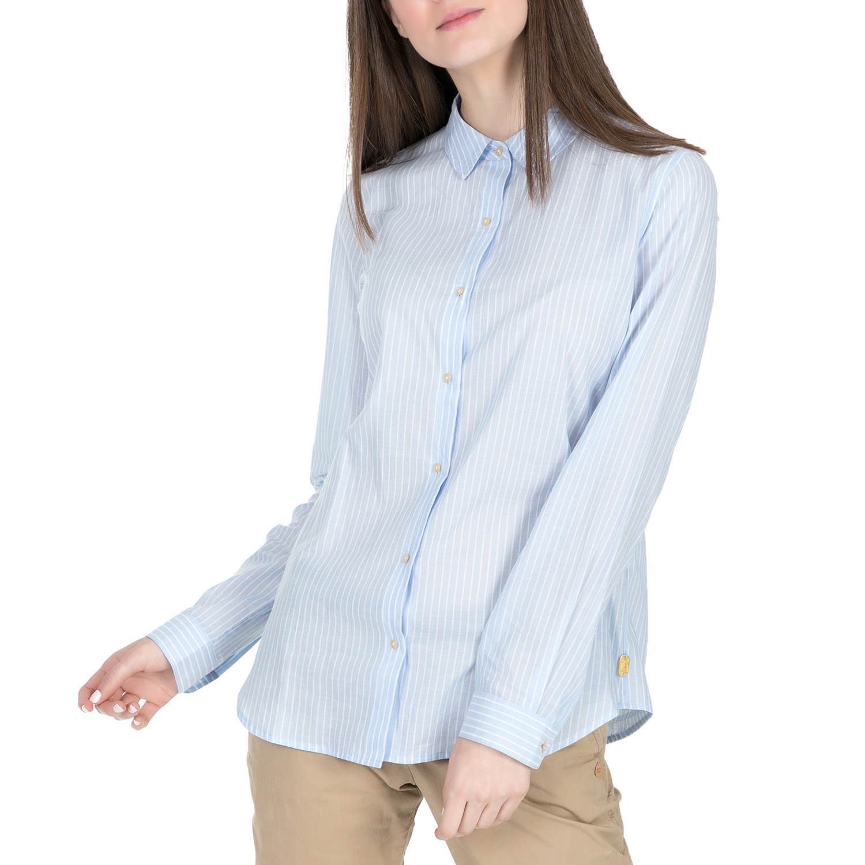 4f53cf0b5f19 SCOTCH   SODA – Γυναικείο μακρυμάνικο πουκάμισο Scotch   Soda Preppy  lightweight cotton ριγέ