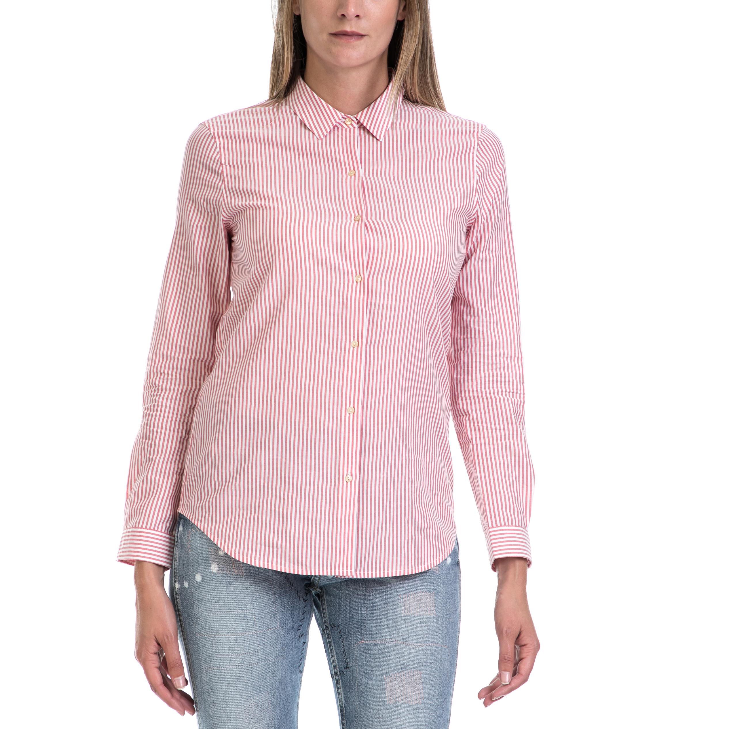 SCOTCH & SODA - Γυναικείο πουκάμισο MAISON SCOTCH κόκκινο-άσπρο γυναικεία ρούχα πουκάμισα μακρυμάνικα