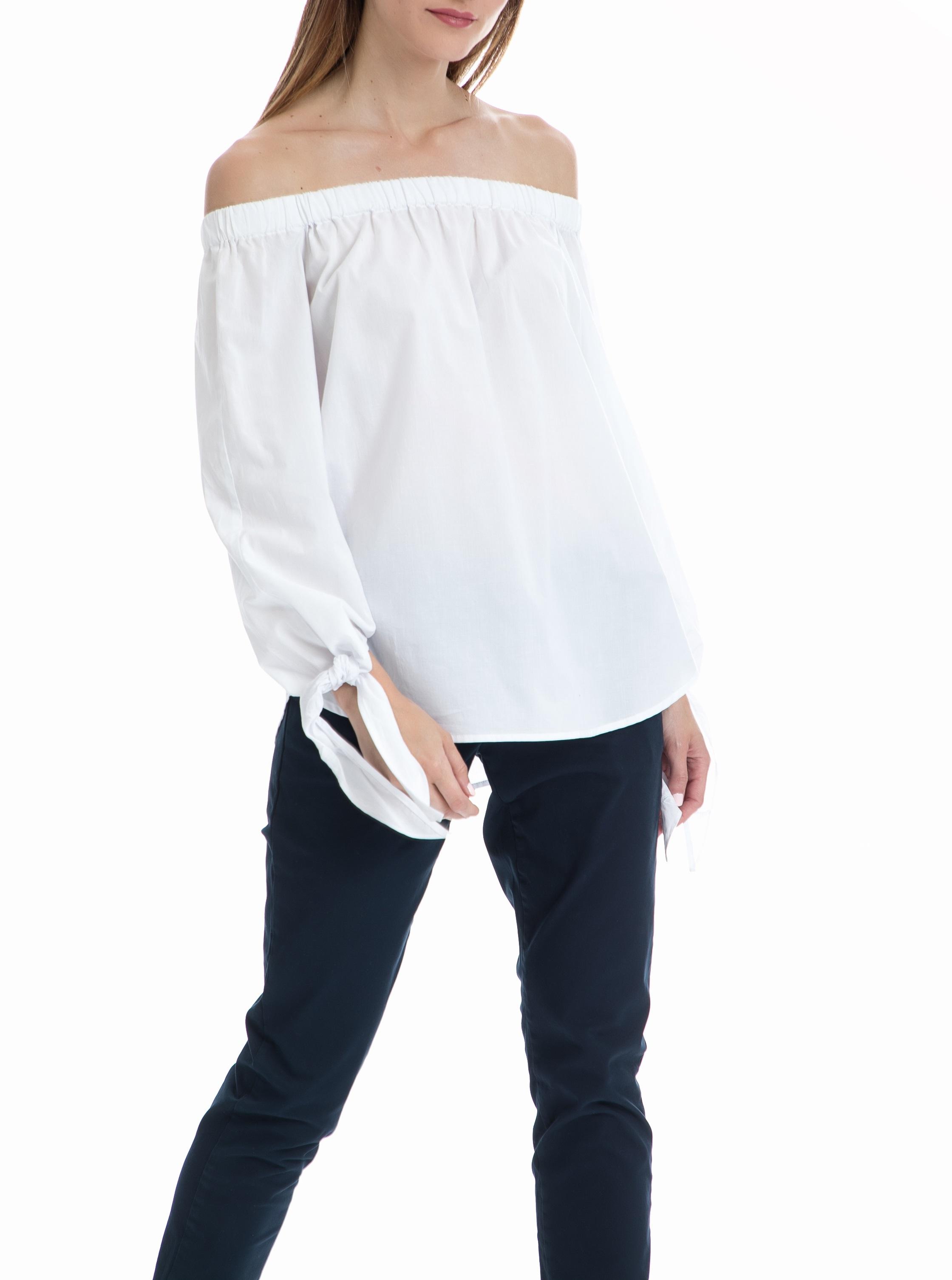 SCOTCH & SODA - Μπλούζα Off the shoulder MAISON SCOTCH λευκή γυναικεία ρούχα μπλούζες τοπ