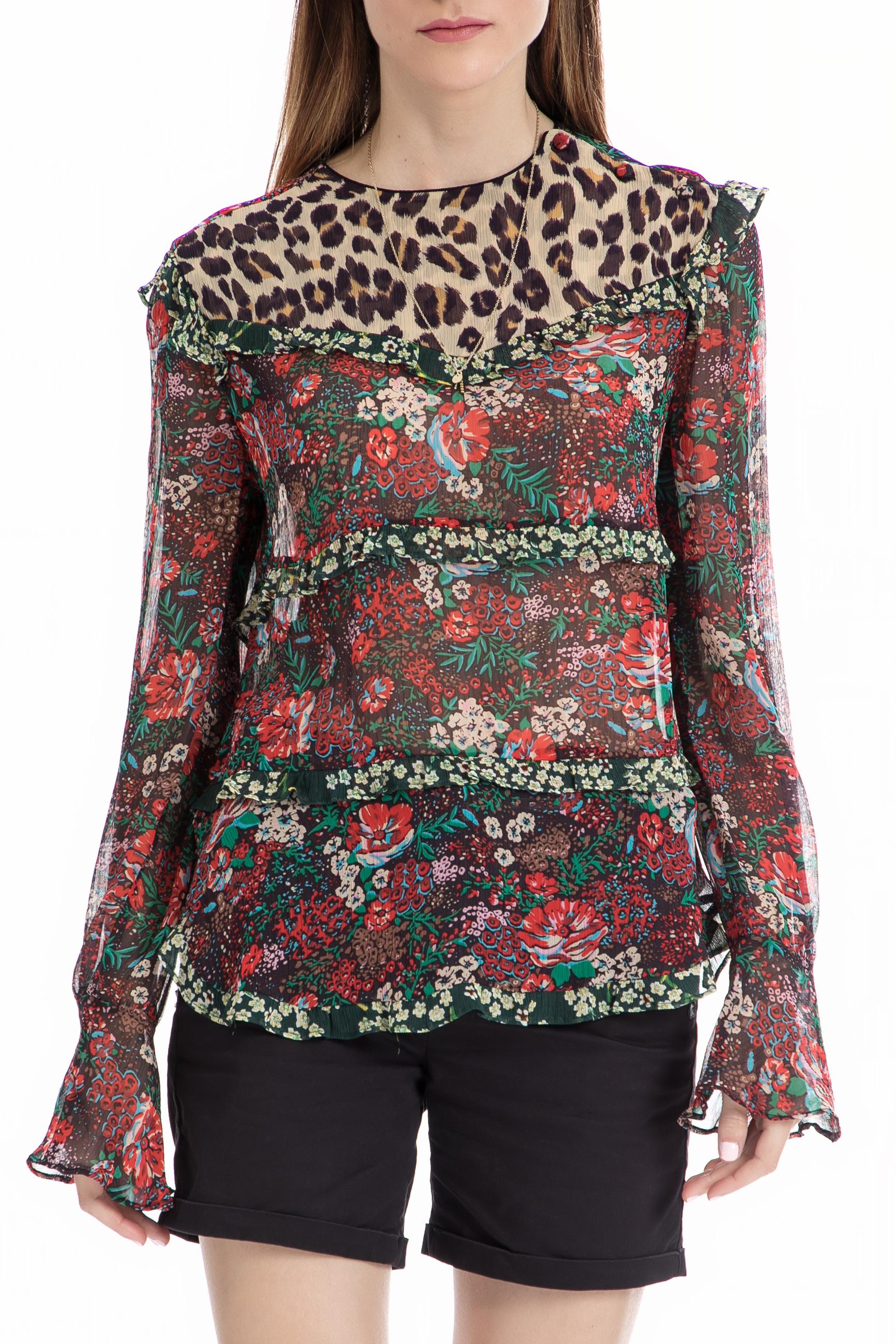 SCOTCH & SODA - Τοπ Mixed print MAISON SCOTCH εμπριμέ γυναικεία ρούχα μπλούζες τοπ