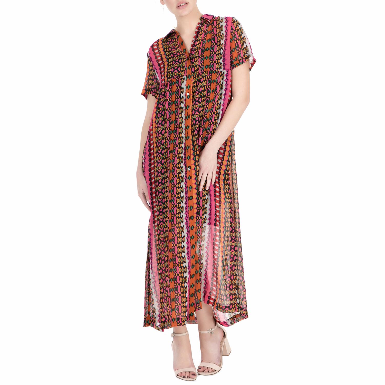 SCOTCH & SODA - Γυναικείο μακρύ φόρεμα Scotch & Soda Drapey longer length sheer  γυναικεία ρούχα φορέματα μάξι