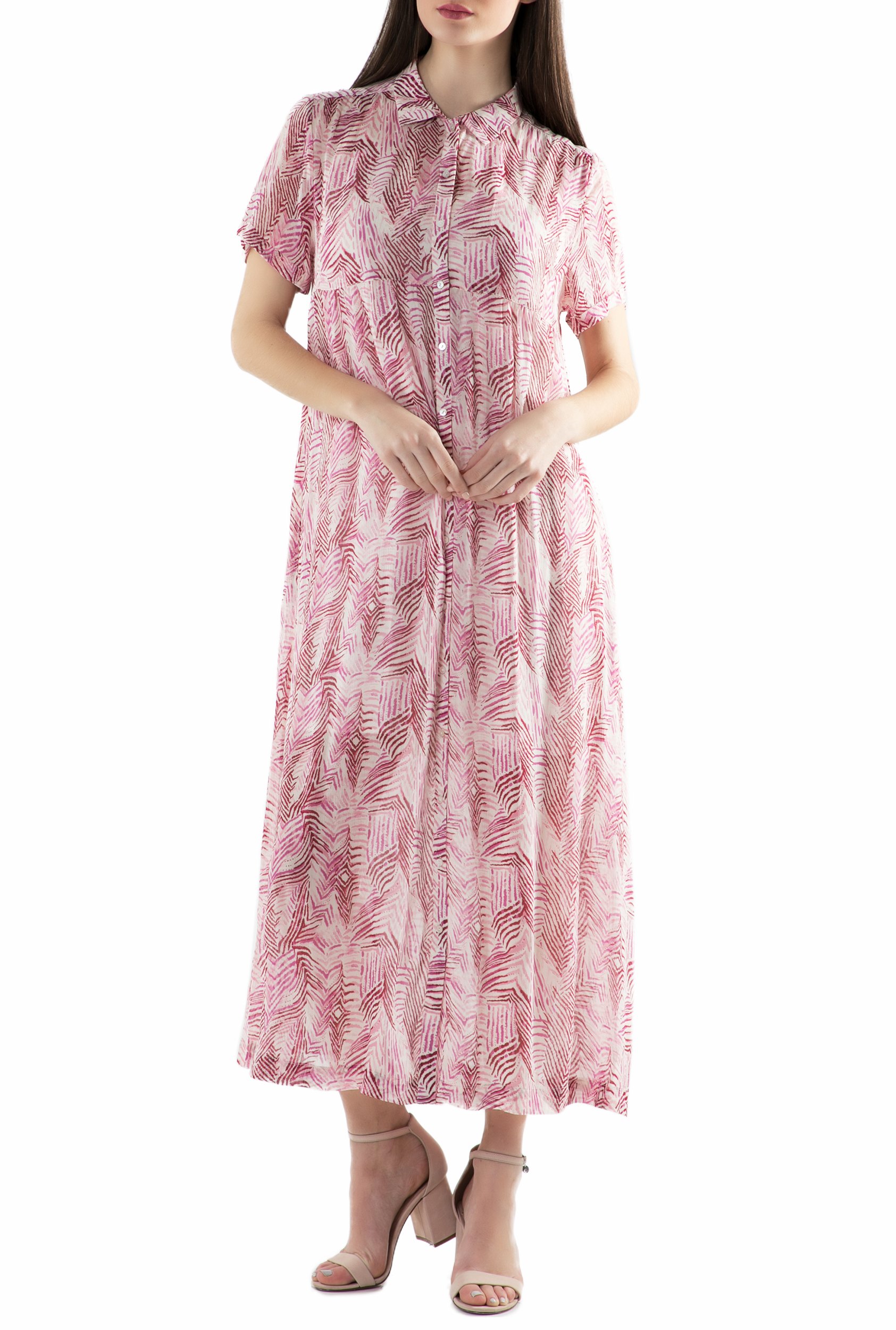 SCOTCH & SODA - Φόρεμα SCOTCH & SODA ροζ με μοτίβο γυναικεία ρούχα φορέματα μάξι