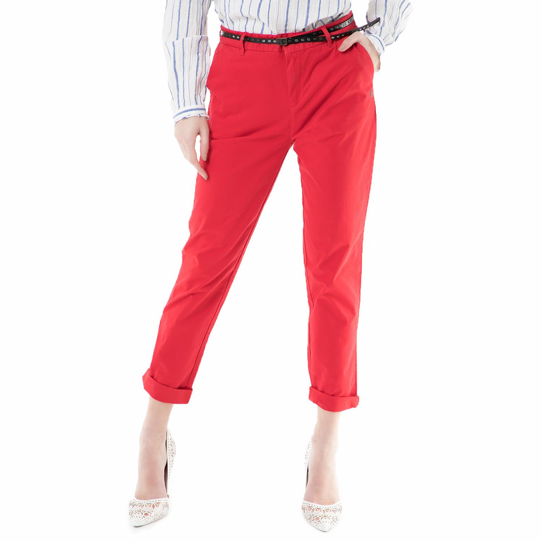 SCOTCH & SODA - Γυναικείο chino παντελόνι SCOTCH & SODA κόκκινο γυναικεία ρούχα παντελόνια chinos