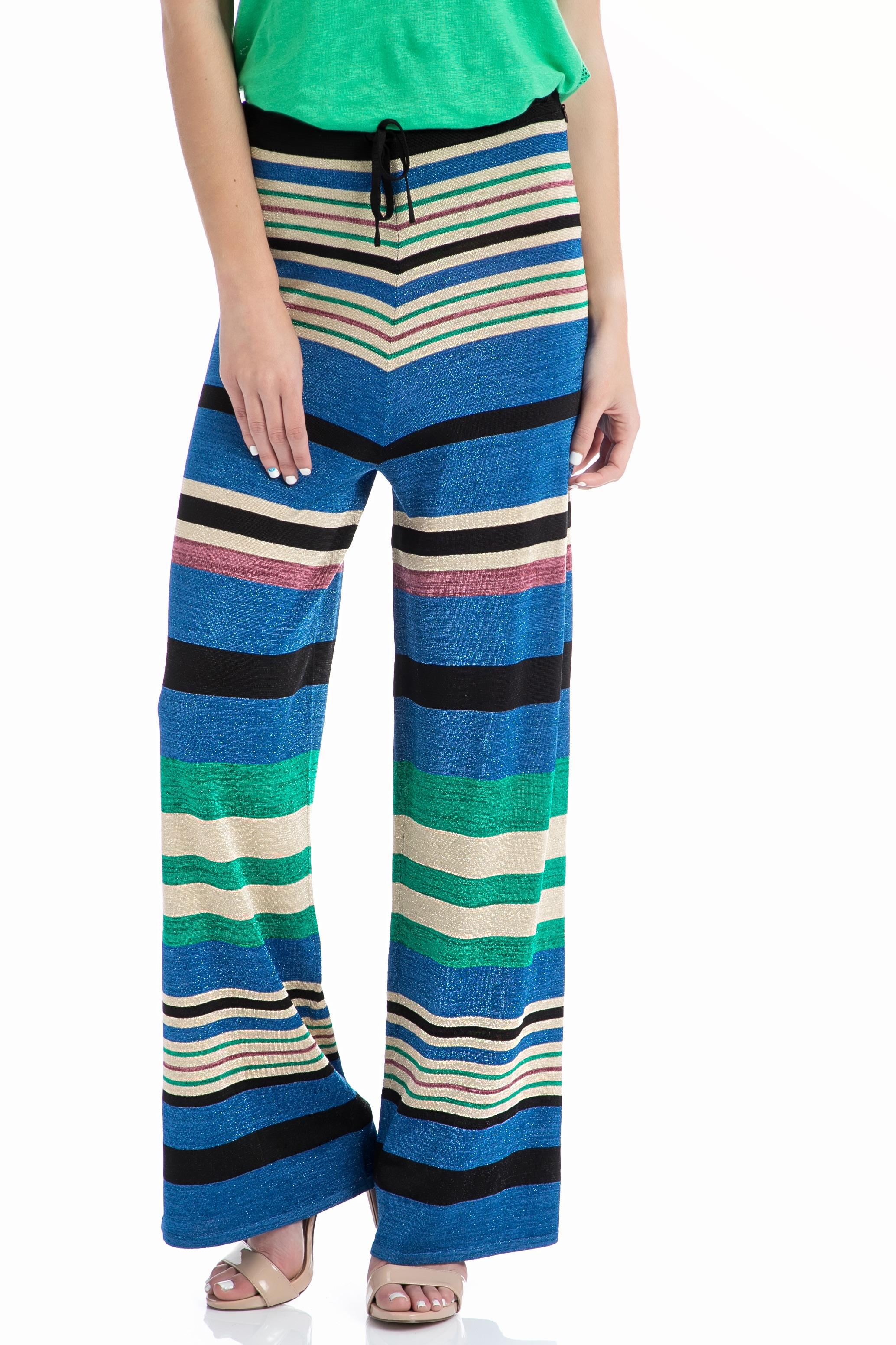 SCOTCH & SODA - Παντελόνι SCOTCH & SODA Knit pant in lurex stripe patt μπλε γυναικεία ρούχα παντελόνια παντελόνες