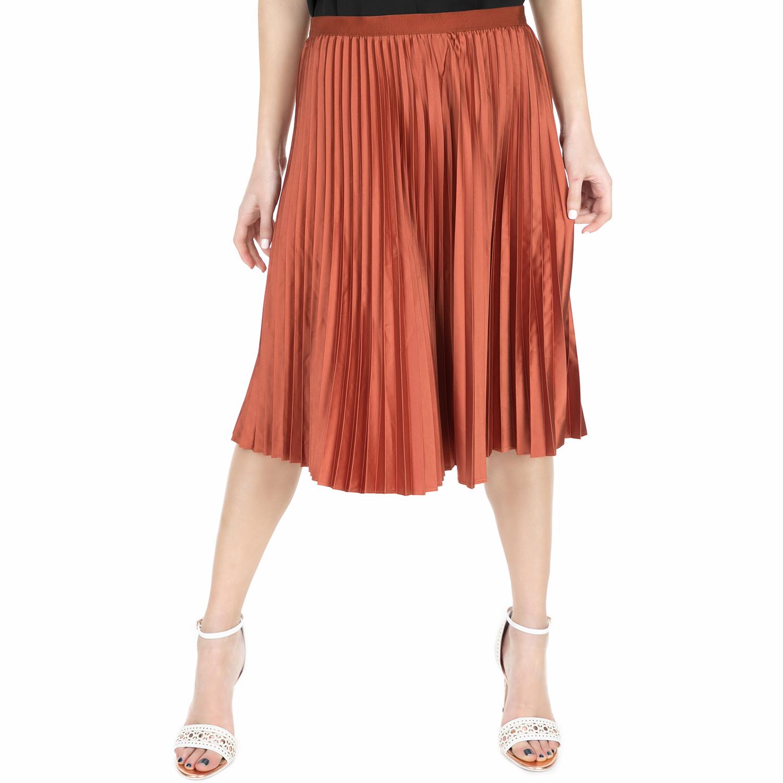 SCOTCH & SODA - Γυναικεία πλισέ φούστα Scotch & Soda Pleated κεραμιδί γυναικεία ρούχα φούστες μέχρι το γόνατο