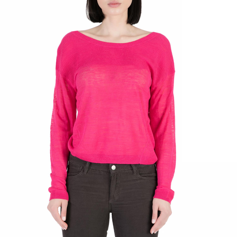 SCOTCH & SODA - Γυναικεία μακρυμάνικη μπλούζα Scotch & Soda Lightweight linen bl γυναικεία ρούχα μπλούζες μακρυμάνικα
