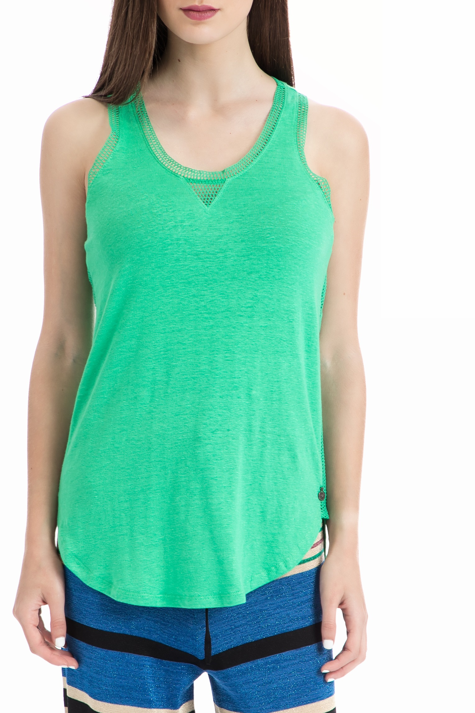 SCOTCH & SODA - Γυναικεία μπλούζα Maison Scotch πράσινη γυναικεία ρούχα μπλούζες αμάνικες