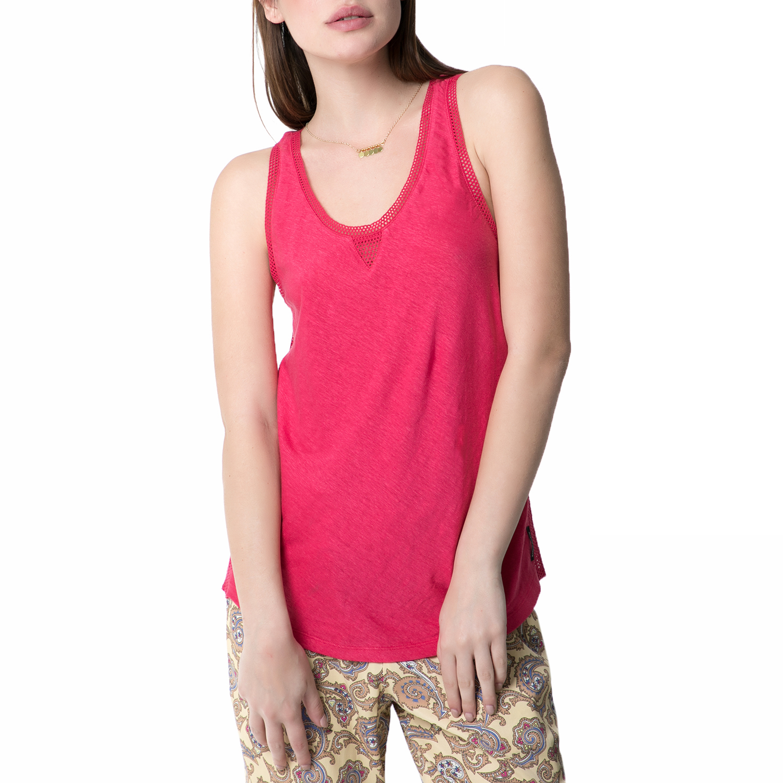 SCOTCH & SODA - Γυναικεία αμάνικη μπλούζα SCOTCH & SODA φούξια γυναικεία ρούχα μπλούζες αμάνικες