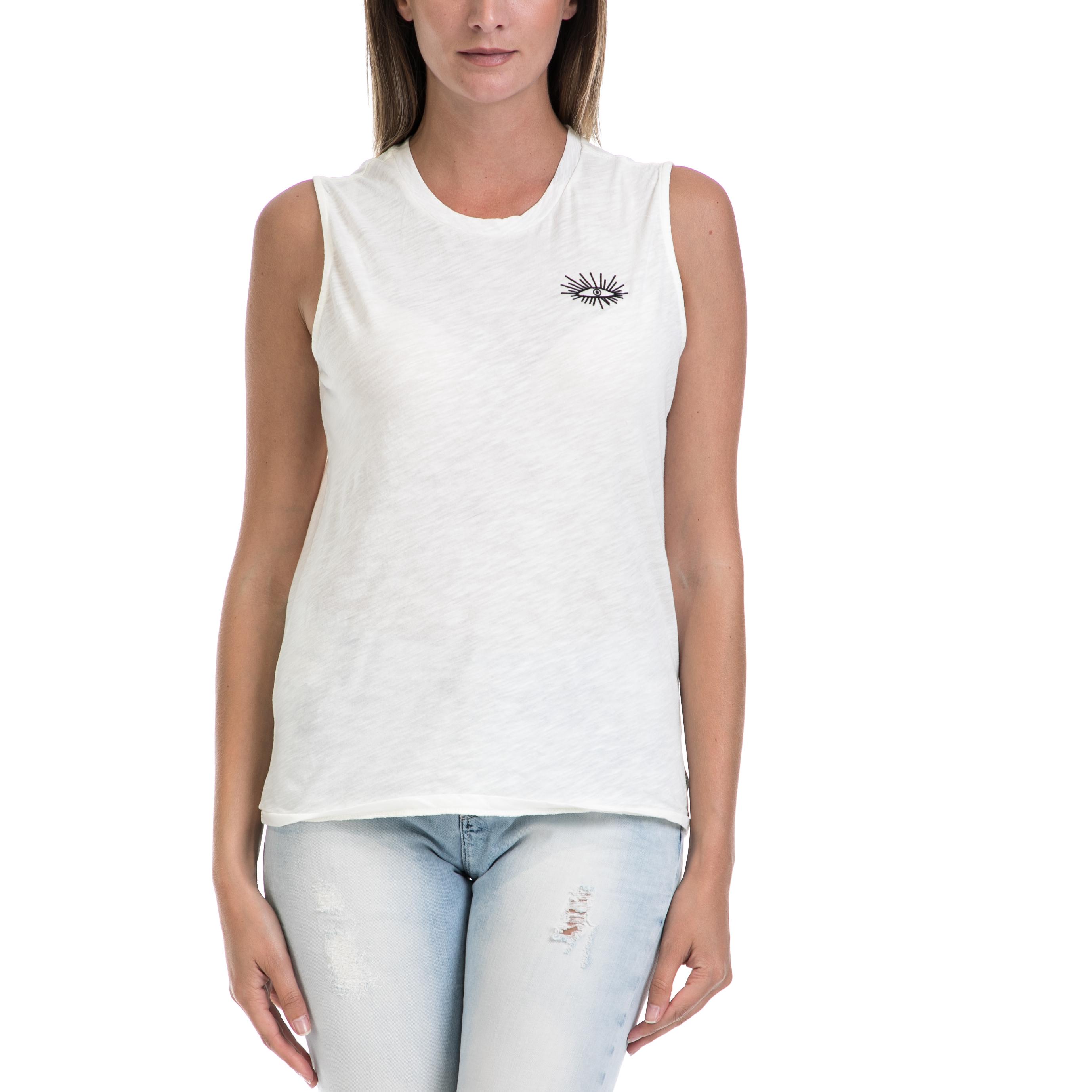 SCOTCH & SODA - Γυναικεία μπλούζα MAISON SCOTCH άσπρη γυναικεία ρούχα μπλούζες αμάνικες
