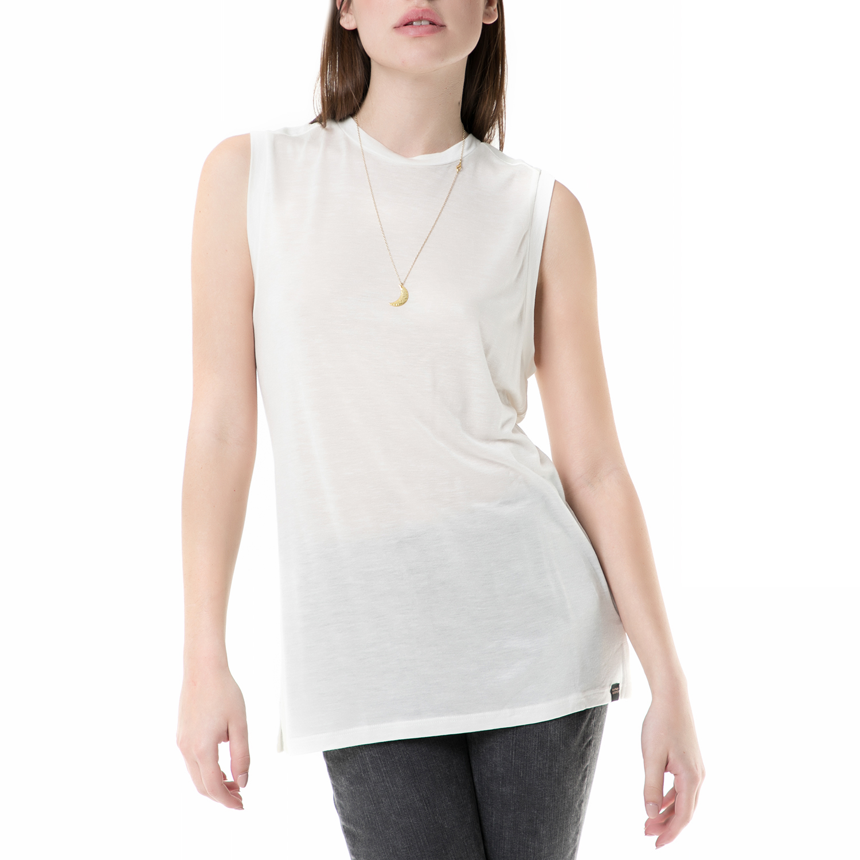 SCOTCH & SODA - Γυνακεία αμάνικη μπλούζα SCOTCH & SODA λευκή γυναικεία ρούχα μπλούζες αμάνικες
