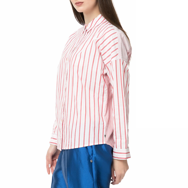 1de0eac7e3c1 SCOTCH   SODA - Γυναικείο ριγέ πουκάμισο Scotch   Soda Relaxed fit  κόκκινο-άσπρο