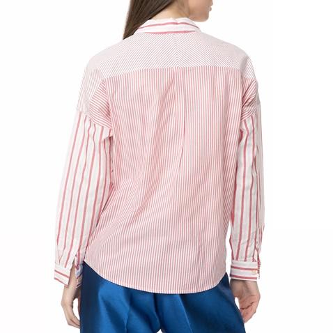 449f9f7e6373 Γυναικείο ριγέ πουκάμισο Scotch   Soda Relaxed fit κόκκινο-άσπρο ...