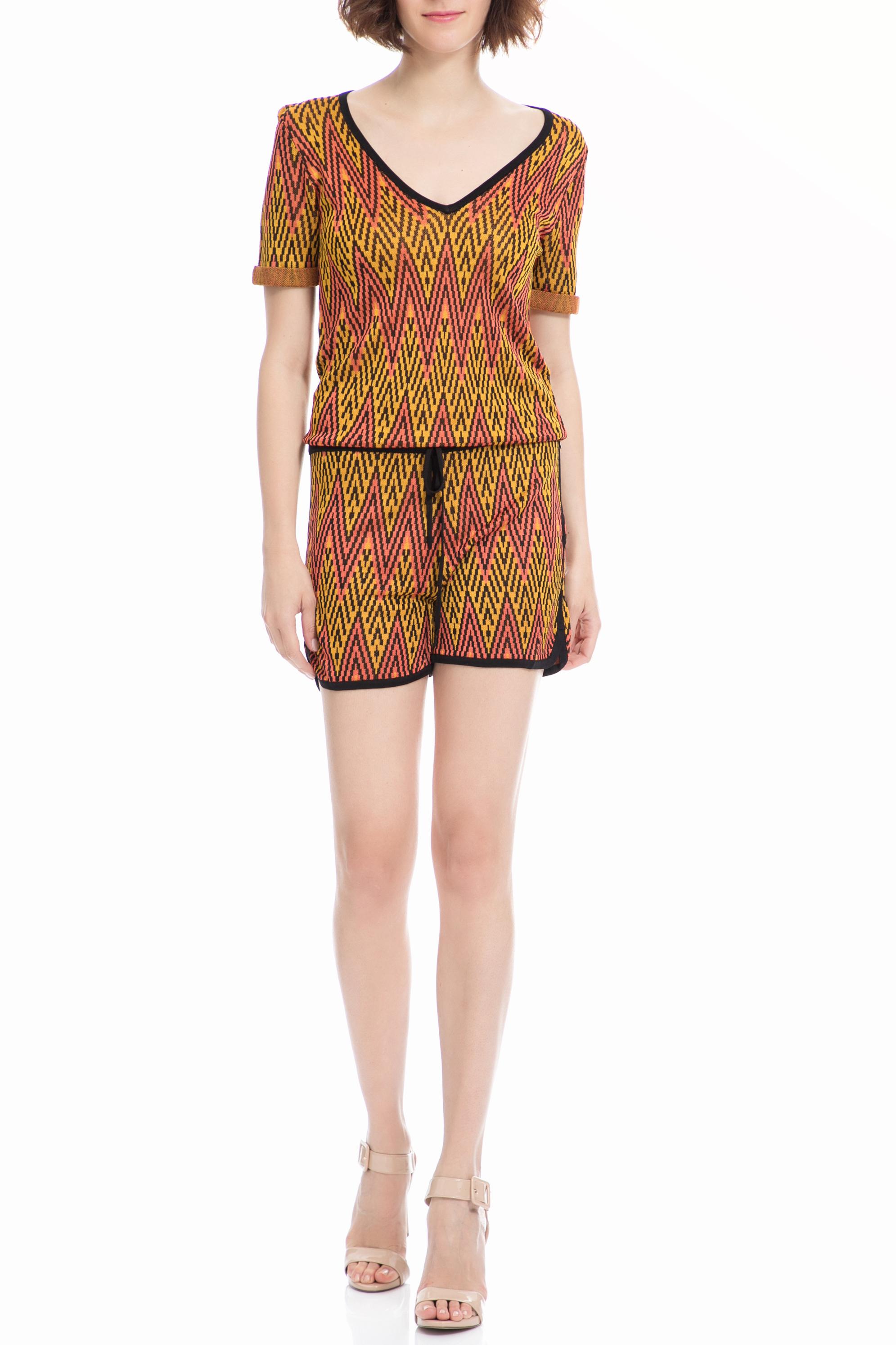 SCOTCH & SODA - Ολόσωμη φόρμα Maison Scotch κίτρινη-κοραλί