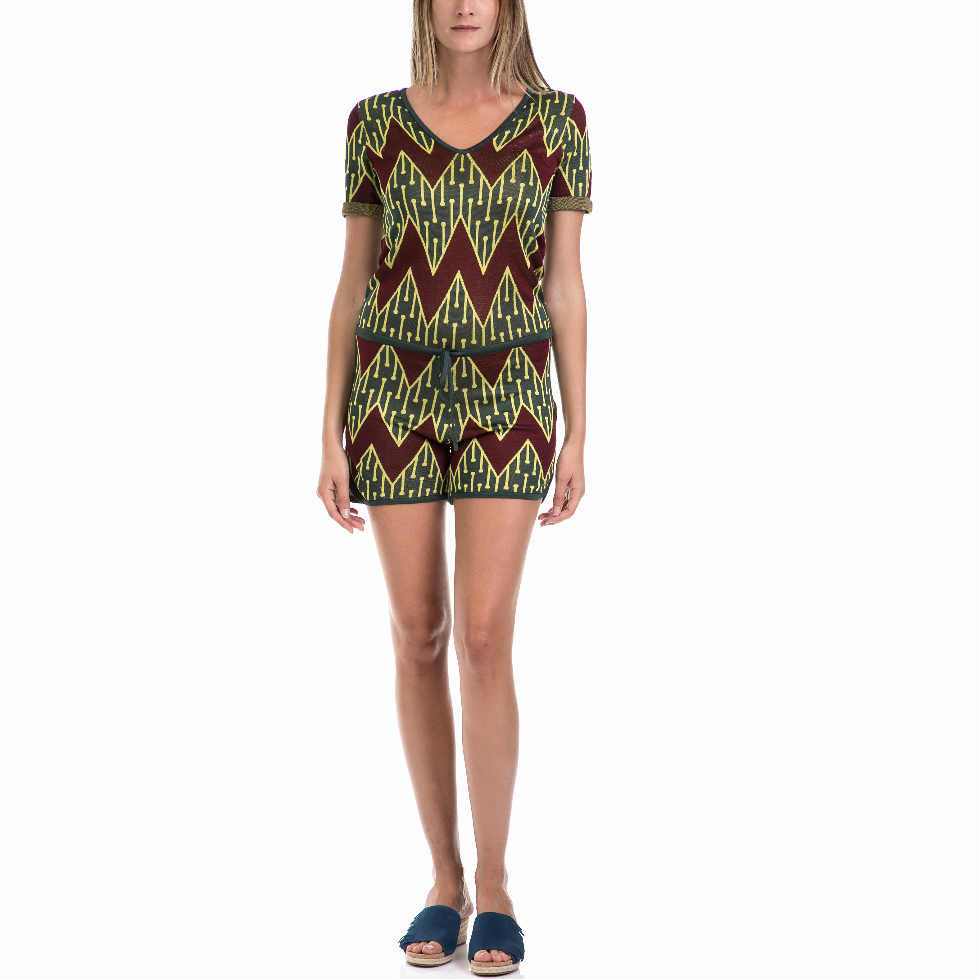 SCOTCH   SODA - Γυναικεία ολόσωμη φόρμα MAISON SCOTCH πράσινη-καφέ 7222d66caf0