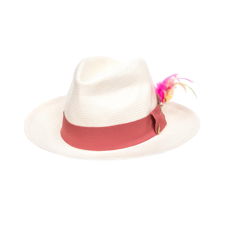 SCOTCH & SODA - Καπέλο MAISON SCOTCH εκρού-κόκκινο γυναικεία αξεσουάρ καπέλα casual