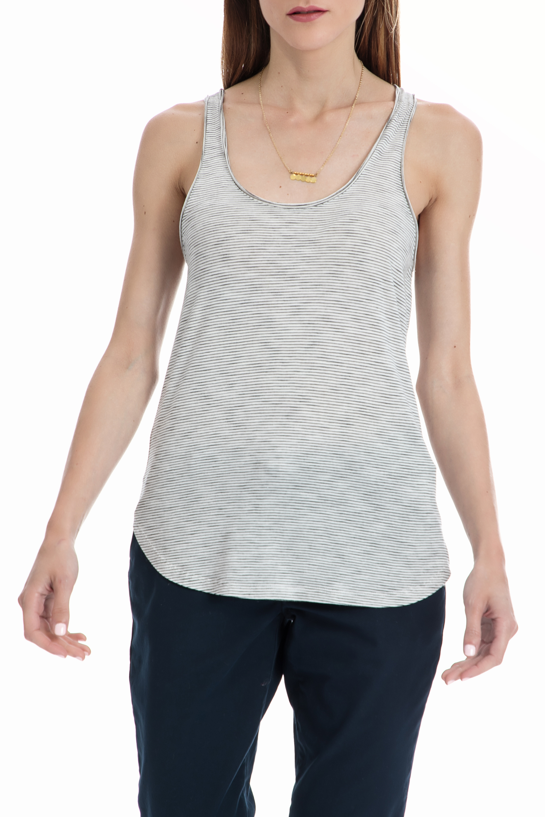 SCOTCH & SODA - Γυναικεία αμάνικη μπλούζα MAISON SCOTCH λευκή-μαύρη γυναικεία ρούχα μπλούζες αμάνικες