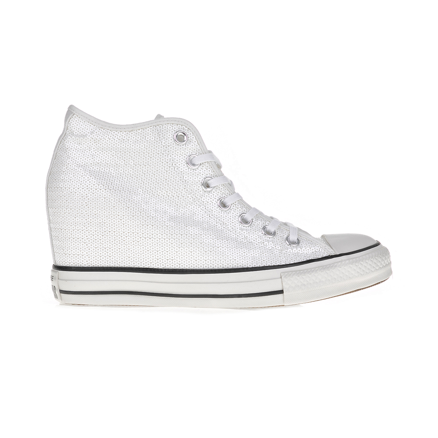 CONVERSE – Γυναικεία αθλητικά μποτάκια CONVERSE CT AS Mid Lux λευκά