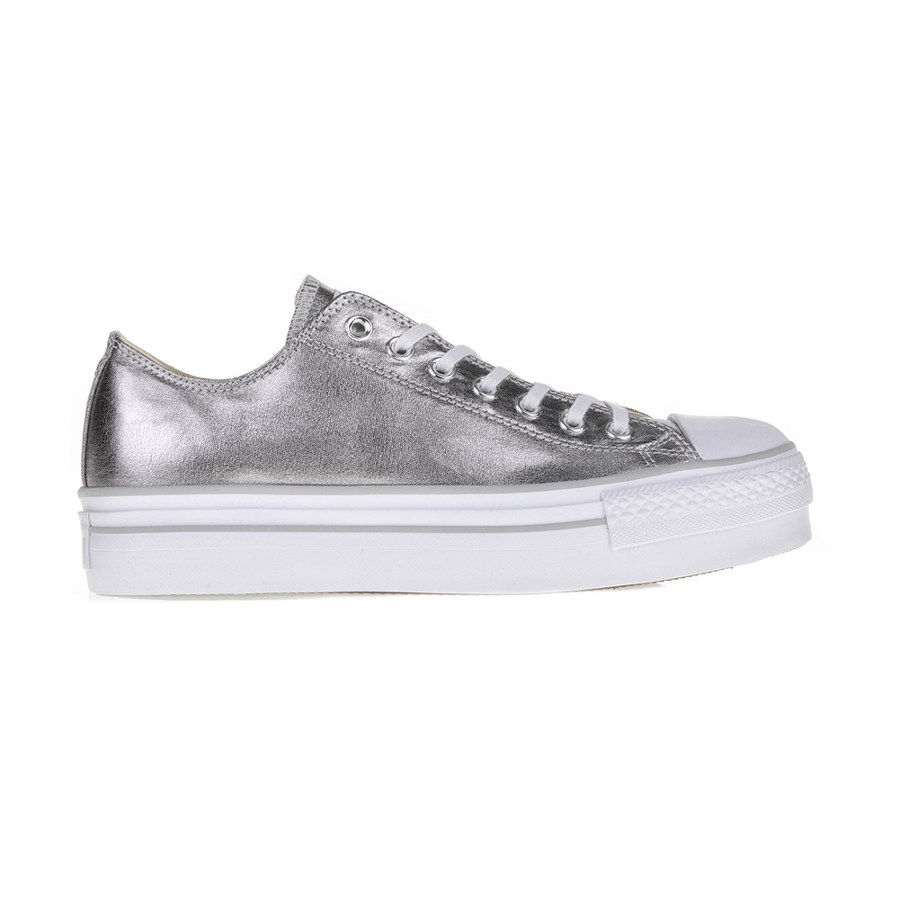 CONVERSE – Γυναικεία sneakers Chuck Taylor All Star ΟΧ ασημί