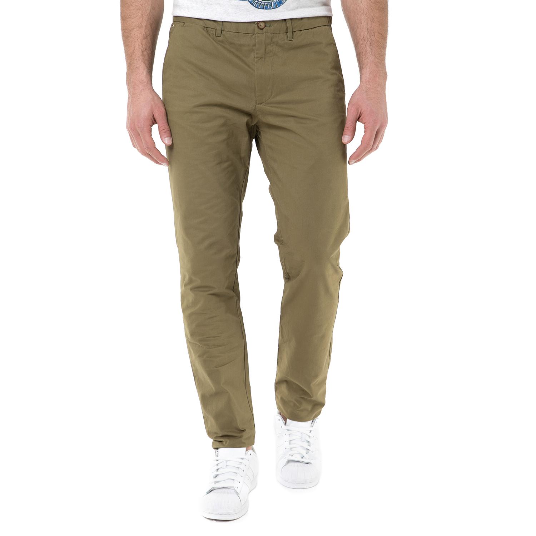 SCOTCH & SODA - Ανδρικό chino παντελόνι SCOTCH & SODA χακί ανδρικά ρούχα παντελόνια chinos