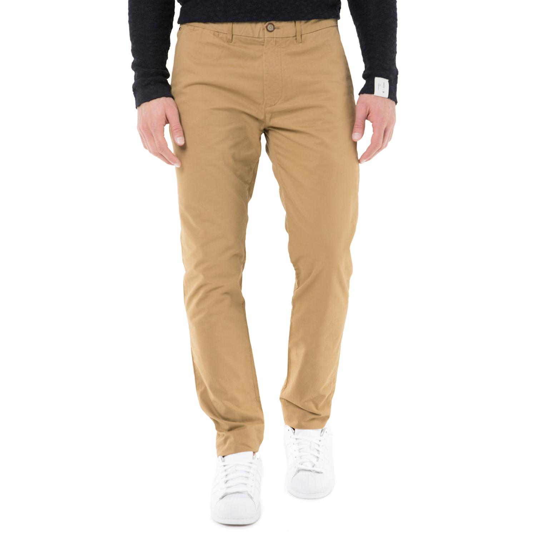 SCOTCH & SODA - Ανδρικό chino παντελόνι SCOTCH & SODA σκούρο μπεζ ανδρικά ρούχα παντελόνια chinos