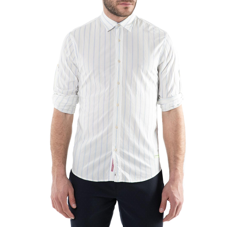 SCOTCH & SODA - Ανδρικό μακρυμάνικο πουκάμισο Scotch & Soda ριγέ ανδρικά ρούχα πουκάμισα μακρυμάνικα