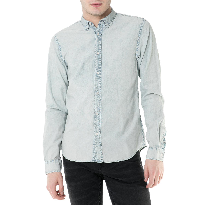 SCOTCH & SODA - Ανδρικό μακρυμάνικο τζιν πουκάμισο Scotch & Soda ανδρικά ρούχα πουκάμισα μακρυμάνικα