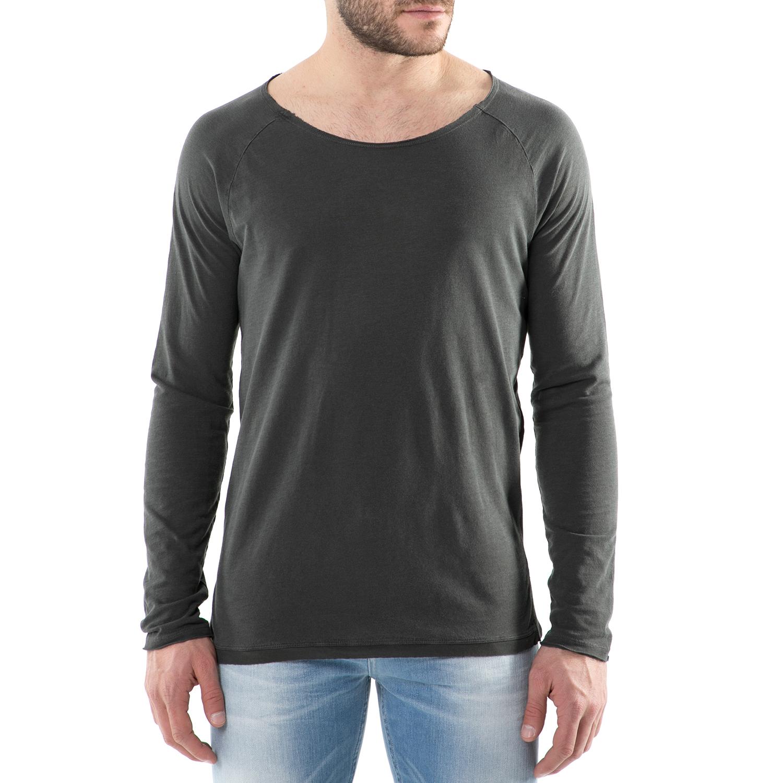 SCOTCH & SODA - Ανδρική μακρυμάνικη μπλούζα μαύρη Scotch & Soda Longsleeve tee i ανδρικά ρούχα μπλούζες μακρυμάνικες