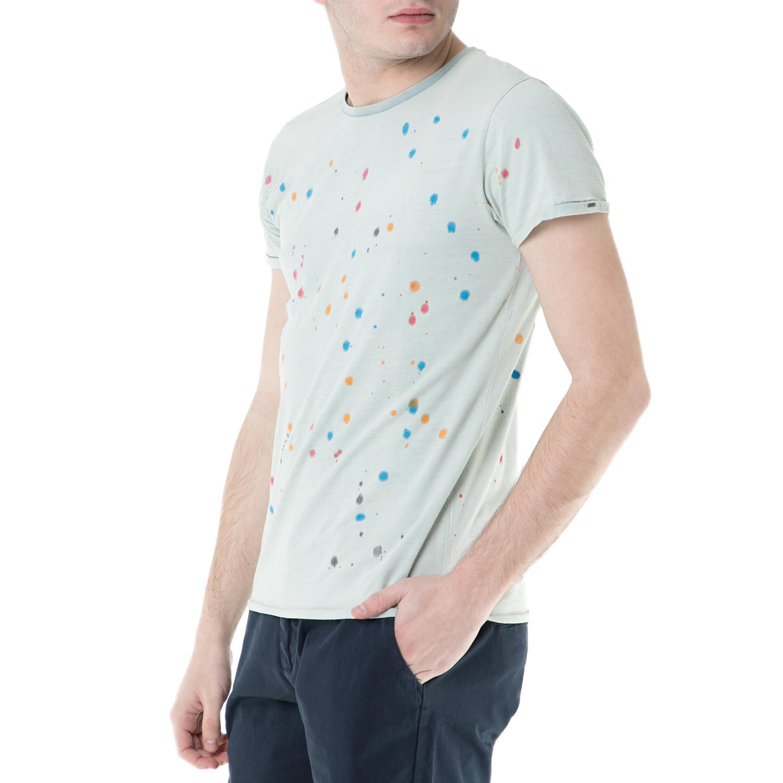 SCOTCH & SODA - Ανδρική κοντομάνικη μπλούζα Scotch & Soda με print ανδρικά ρούχα μπλούζες κοντομάνικες