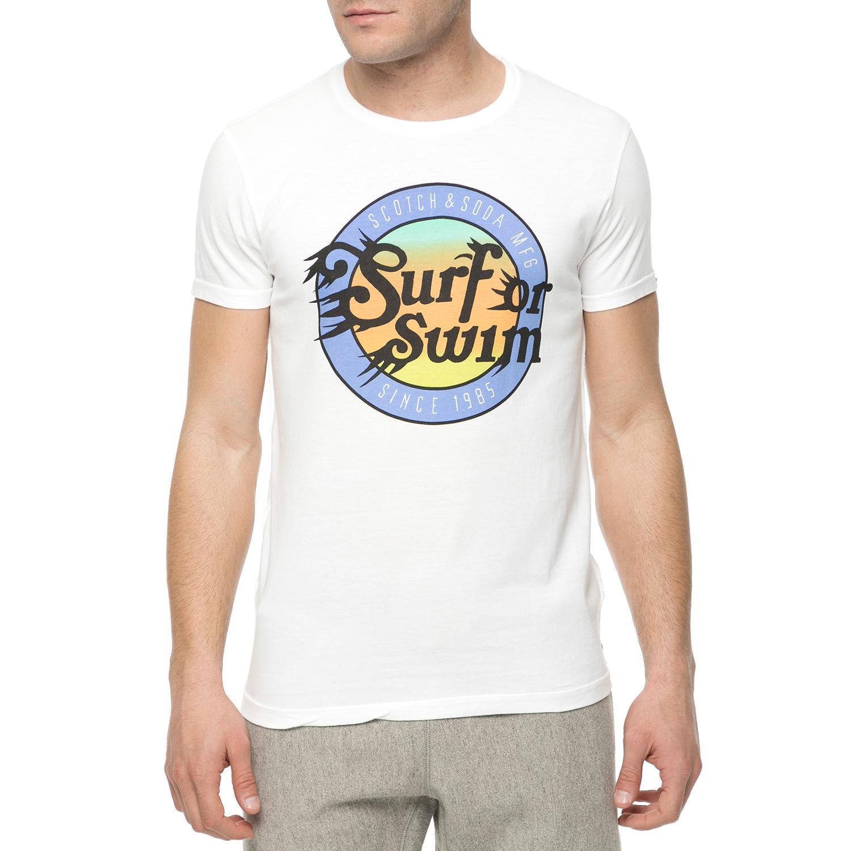 SCOTCH & SODA - Ανδρική κοντομάνικη μπλούζα Scotch & Soda tee in loose jersey qu ανδρικά ρούχα μπλούζες κοντομάνικες