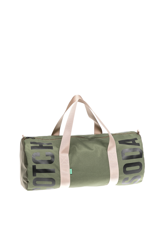 SCOTCH & SODA - Ανδρική τσάντα Scotch & Soda χακί ανδρικά αξεσουάρ είδη ταξιδίου τσάντες